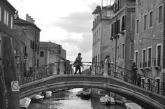 Much of the travel done in Venice is either by foot or boat.