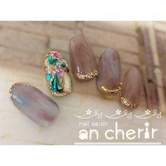 Luxury Nails – Great Make Up Ideas Glam Nails, Red Nails, Hair And Nails, Gel Nails At Home, Japanese Nail Art, Luxury Nails, Flower Nails, Nail Arts, Wedding Nails