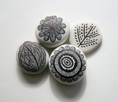 Artsy pebbles, perfect for any shelf as an accent, plant filler, or paper weight. So cute.