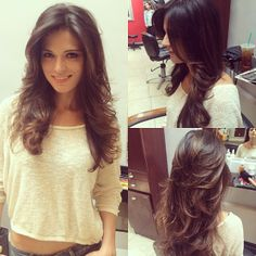 Hairstyles for long hair with layers for round faces - Haar Ideen - Long Layered Haircuts, Haircuts For Long Hair, Hairstyles For Round Faces, Long Hair Cuts, Pretty Hairstyles, Haircut Long, Layered Hairstyles, Latest Haircuts, Hairstyles Haircuts