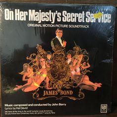 On Her Majesty's Secret Service Soundtrack OST Vinyl LP 1969 United Artists Records John Barry James Bond 007 by vintagebaron on Etsy