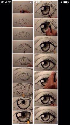 Drawing An Eye Tutorial. #Various #Trusper #Tip