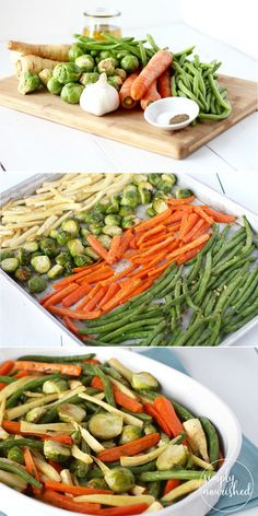 Simple Garlic Roasted Vegetables. The perfect side dish to any meal. | Paleo | Whole 30 | Vegan | Dairy-free | Gluten-free | Grain-free http://simplynourishedrecipes.com/garlic-roasted-vegetables/