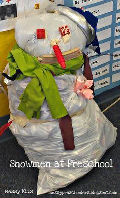 Messy Kids: Snowmen at Preschool