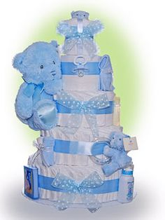 The best selection of unique baby boy diaper cakes and baby shower gifts in many styles. Great gift ideas for new baby and delight the new parents www.lilbabycakes.com/