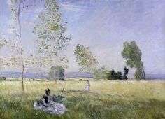 Prairie à Bezons (C Monet - W 341),1874.