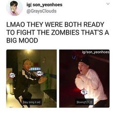 Y'all seem to forget that Yoongi is from Daegu bitch 😂😂 and Jimin Is a literal black belt is Taekwondo 😩😩 Yoonmin, Namjoon, Taehyung, Pop Kpop, Steven Universe, Bts Memes Hilarious, Funny Tweets, Les Bts, Bts Tweet