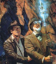Junior and Senior by Hugh Fleming - The Doctor Joneses - #IndianaJones #INamedTheDogIndiana