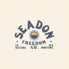 Graphic Design Tips, Logo Design Inspiration, Logo Vintage, Vintage Vibes, Sunny Logo, Youth Logo, Outdoor Logos, Surf Design, Typography Poster Design