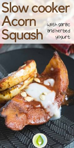 Try this acorn squash recipe for the holidays!  Sweet and Spicy and slow roasted in the crockpot, this recipe will be a new favourite on your holiday table.