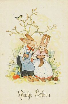 Old Easter Post Card — Frohe Ostern easter images vintage postcards Easter Bunny Pictures, Easter Drawings, Easter Illustration, Valentine Gifts For Husband, Illustrator, Easter Religious, Easter Traditions, Easter Crafts For Kids, Vintage Easter