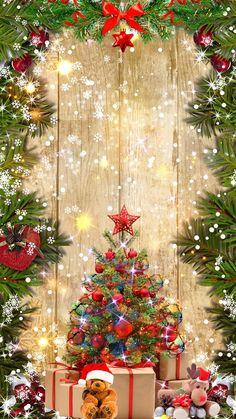 Pin by DLR on Christmas Screen Savers/Wallpaper Merry Christmas Wallpaper, Merry Christmas Pictures, Christmas Scenery, Happy Merry Christmas, Cute Christmas Tree, Holiday Wallpaper, Christmas Background, Christmas Greetings, Christmas Lights