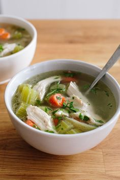 How To Make Chicken Soup.  Never peel the onions - source of quercitin.