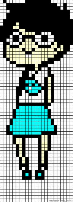 Homestuck Jane Crocker perler bead pattern Kandi Patterns, Pearler Bead Patterns, Alpha Patterns, Perler Patterns, Beading Patterns, Perler Bead Art, Perler Beads, Beaded Cross Stitch, Cross Stitch Patterns