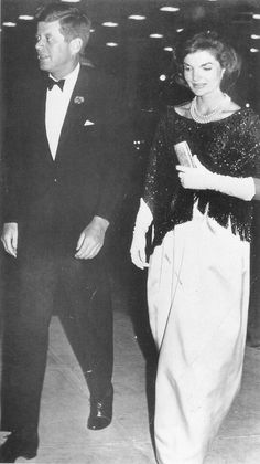 President and Mrs. Kennedy at a dinner in honour of the second anniversary of his inauguration. ♛❤✾❤✾❤❁❤❃❤❁❤ ♛ http://en.wikipedia.org/wiki/Jacqueline_Kennedy_Onassis   http://en.wikipedia.org/wiki/John_F._Kennedy