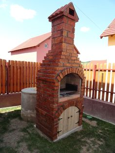 Bbq Grill, Grilling, Barbecue Design, Landscaping Around Trees, Outdoor Oven, Brick Patterns, Bbq Ideas, Backyard, House Design