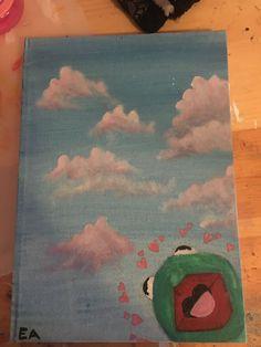 Kermit der Frosch Leinwand Gemälde Kermit the frog canvas painting Cute Canvas Paintings, Small Canvas Art, Easy Canvas Painting, Mini Canvas Art, Diy Painting, Painting & Drawing, Canvas Canvas, Canvas Ideas, Sapo Kermit