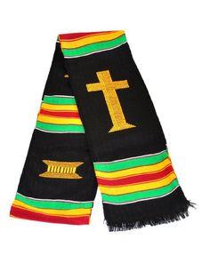Christian Choir Clergy and Usher Kente Cloth Stole Sash