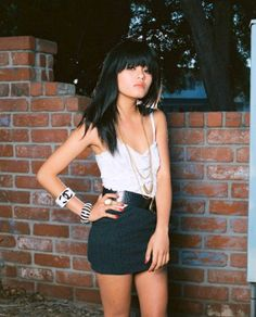 Thinspiration photos of real girls, models and celebrities. Olivia Lopez, Thinspiration, White Tops, Fashion Rings, Summer Outfits, Mini Skirts, Velvet, My Style, Lady