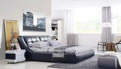 MARTINA- Designer Italian Leather Bed Frame