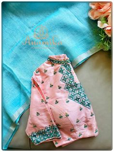 Embroidery Blouses, Hand Embroidery Dress, Embroidery Works, Bird Embroidery, Embroidery Designs, Choli Blouse Design, Cotton Saree Blouse Designs, Simple Blouse Designs, Stylish Blouse Design