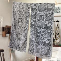 Some of my hand printed scarves, please visit my Etsy shop https://www.etsy.com/uk/shop/LouTonkin?ref=seller-platform-mcnav to see what i have for sale at the moment or my instagram account & facebook page for my latest news.