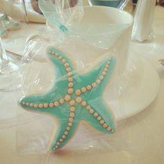 Starfish Cookie Favor #beach #bridal #shower #anelsondesigns