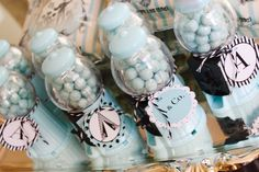 Tiffany blue gumball machines favors for birthday party or wedding