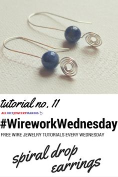 Gorgeous spiral wire earrings to make! #WireworkWednesday