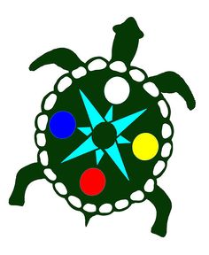 Four Directions Turtle (Linda Diane Taylor) Land Turtles, Island Tattoo, Turtle Quilt, Four Directions, Native American Images, African Crafts, Beading Patterns, Beading Ideas, Medicine Wheel