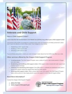 Veterans and child support, by the Oregon Child Support Program