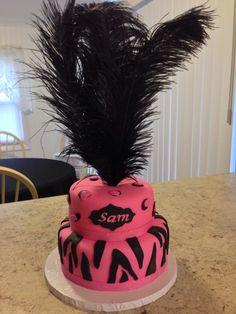 Black/Pink animal print cake