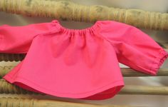 Fushia Peasant style top for 15 inch Dolls by sistersdollclothes, $7.00