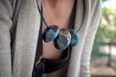 Raku necklace / Girocollo Raku  By Chabu'