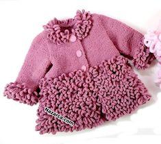 Baby Knitting Patterns, Kids Dress Patterns, Moda Emo, Easy Knitting, Baby Girl Dresses, Crochet Clothes, Little Babies, Knit Cardigan, Lana