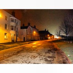 Poundbury, Dorset at night