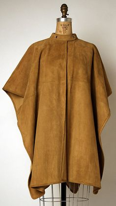 Poncho  Bonnie Cashin  (American, 1915–2000)  Manufacturer: Philip Sills & Co. (American, founded 1946) Date: spring/summer 1971 Culture: American Medium: leather