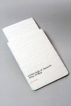 prada aw11-12 // white wedding invite inspo