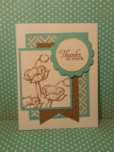 Simply sketched thank you. 2013-2015 In Colors from Stampin' Up!  http://cathyschroeck.stampinup.net