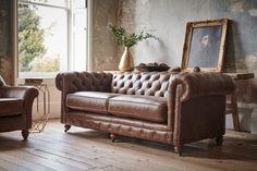 The Furniture Studio Chesterfield Sofa Bed, Sofa Uk, Leather Chesterfield, Leather Sofa Sale, 3 Seater Leather Sofa, Vintage Sofa, Upholstered Sofa, Living Room Sofa, Furniture