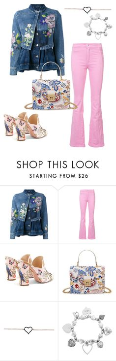 """Denim Jacket"" by stina715 on Polyvore featuring Alexander McQueen, Givenchy, Aquazzura, ChloBo and denim"