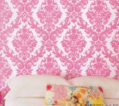 pink damask wallpaper bedroom bedroom makeover on damasks canopies 16738