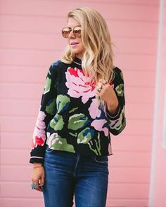Classic denim and fall sweaters are whats new on LL today. This Floral sweater is amazing.