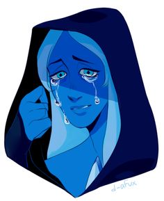OMG I THOUGHT I WAS THE ONLY ONE DRAWING NEW STEVEN UNIVERSE BLUE DIAMOND FANART!