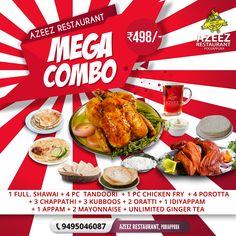 Indian Food Menu, Indian Food Recipes, New Recipes, Ethnic Recipes, Fried Chicken, Tandoori Chicken, Food Design, Menu Design, Food Banner