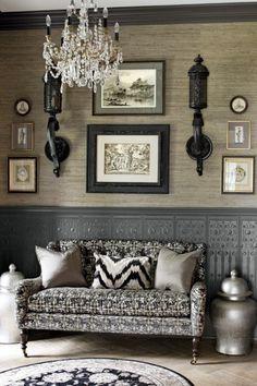 Coin salon dans un style contemporain, oriental moderne et chic pinned with Pinvolve