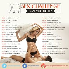 30 Day Sex Challenge. Try if you dare!