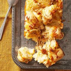 Cheesy Sausage Bread This fun and hearty pull-apart bread is prime game-day food.