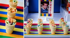 Snacks for toddler party. It's easy, environmentally friendly, and no dishes!