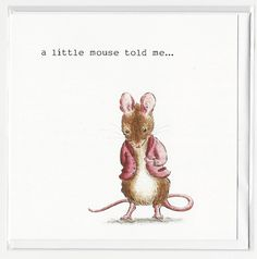 A personal favourite from my Etsy shop https://www.etsy.com/uk/listing/559786317/mouse-tales